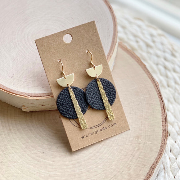 Crest Earrings | Midnight