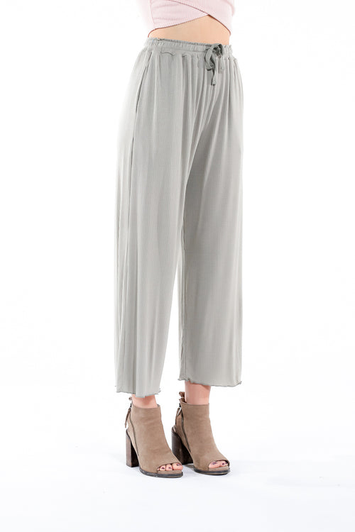 light green flowy pants with drawstring