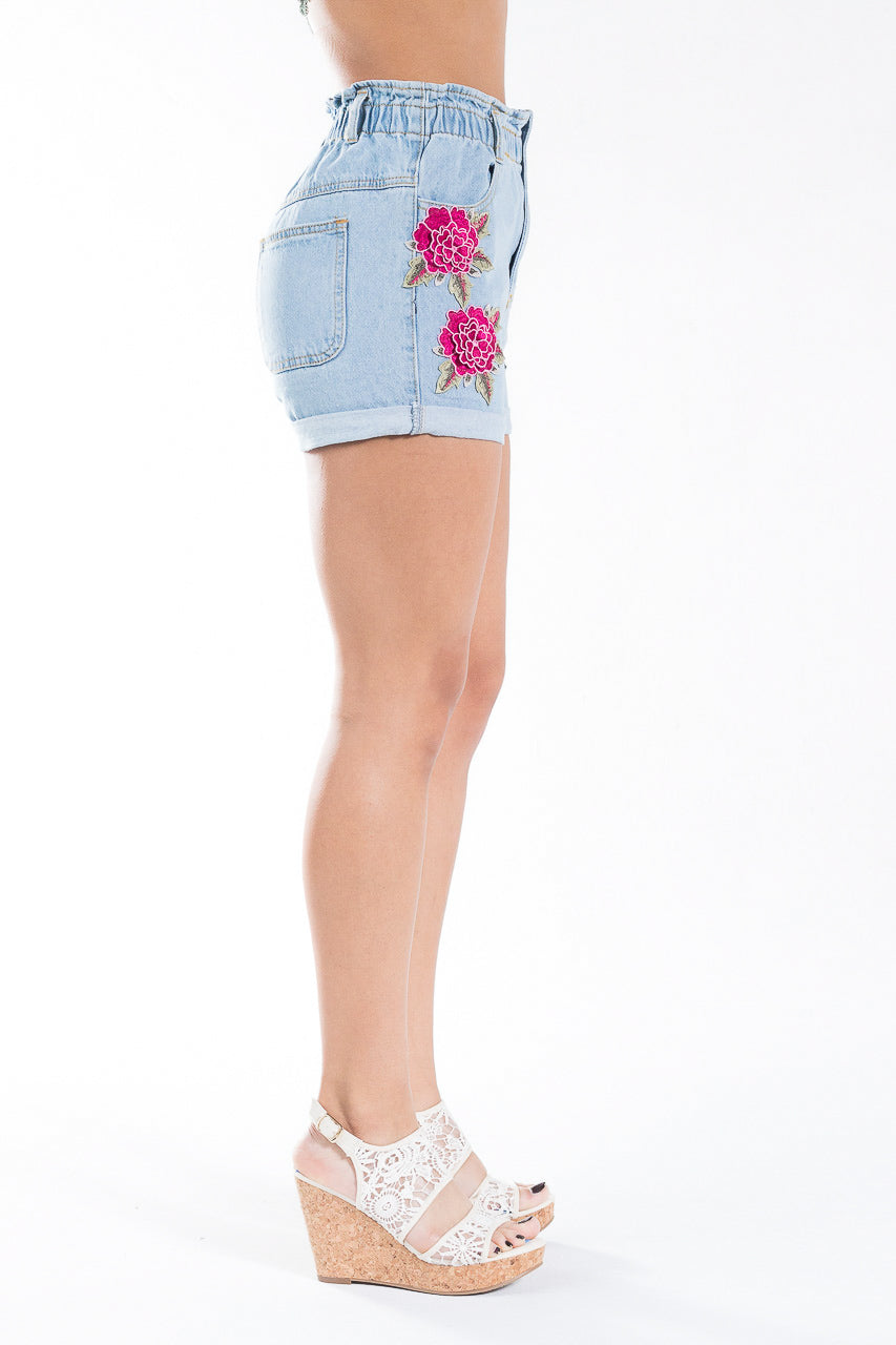 Flowers In Your Hair Denim Shorts