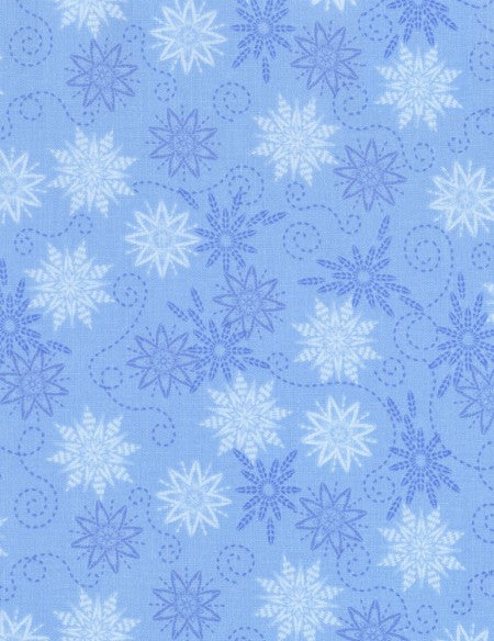 Bohemian Blues Small Snowflakes Rain