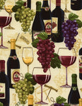 Wine Bottles and Grapes  - Sand
