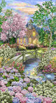 Peaceful Garden Forest Chapel Panel