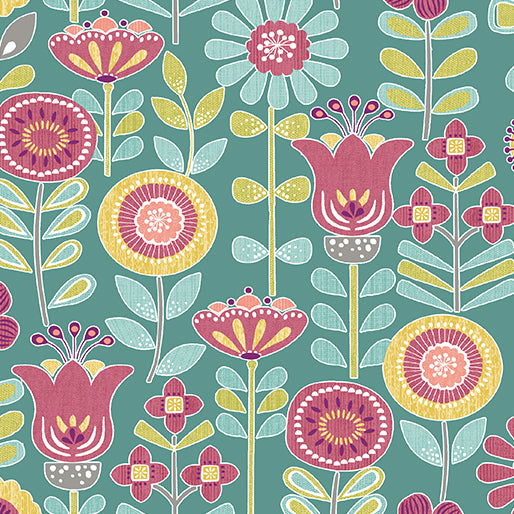 Choose to Shine Sunshine Floral Teal