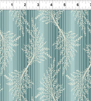Romance by Jason Yenter Teal Leaves and Stripes