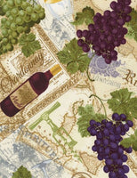 Wine and Grapes on Text
