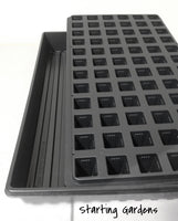 Seed Starting Trays, (Qty.5) 72 Cell Propagation Trays, (Qty.5) Solid Seed Trays