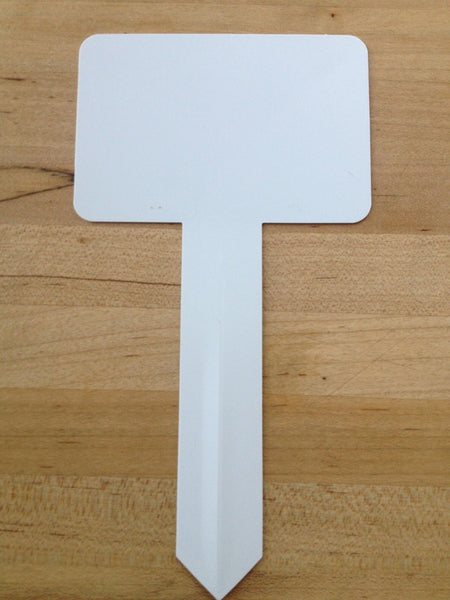 "T- Stake Plant Labels (Qty. 20), Measures 7"" x 3.75"", Plant Stakes"