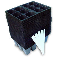 720 Cells Seedling Starter Trays for Seed Germination +5 Plant Labels (120, 6-cell Trays)-Starting Gardens