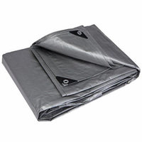 8x10 Heavy Duty Tarp, Silver Poly Tarp, Reinforced Boat, Swimming Pool, Car-Starting Gardens