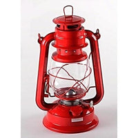 "Red Hurricane Lantern, 12"" New, Emergency, Camping, Oil Lamp Light-Starting Gardens"