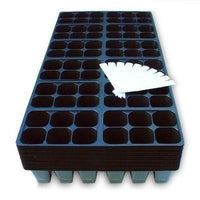 Seed Starter Trays, 1440 Cells: (240 Trays) Plus 10 Plant Labels, Germination-Starting Gardens