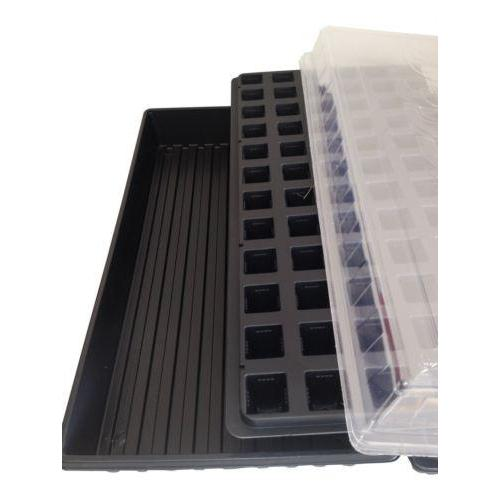 Seed Starting Kit, Solid Seed Tray, 72 Cell Plug tray, Dome Lid, Germination Kit-Starting Gardens