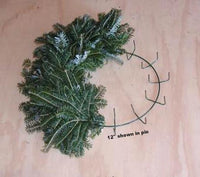 "Wreath Form, 12"" Wreath Frame, Christmas Wreath, Live Wreath Clamp Frame"