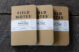 Field Notes original kraft 3-pack