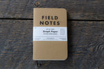 Field Notes original kraft 3-pack graph paper