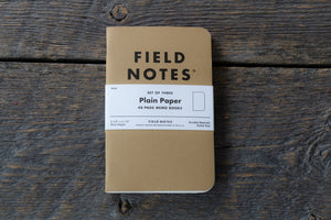 Field Notes original kraft 3-pack plain paper