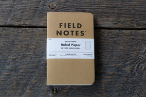 Field Notes original kraft 3-pack ruled paper