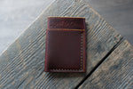 Flux veg tan leather wallet in hickory