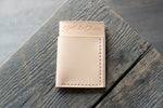 Flux veg tan leather wallet in natural