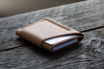 Flux veg tan leather wallet in natural full