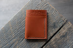 Flux veg tan leather wallet in tan