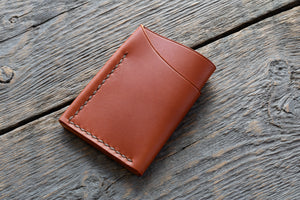 Flux veg tan leather wallet in tan back