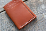 Flux veg tan leather wallet in tan mocha stitching