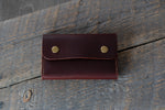 Journeyman harness leather notebook wallet closed