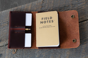 Journeyman harness leather notebook wallet full