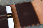 Journeyman harness leather notebook wallet makers mark