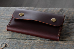 Journeyman harness leather notebook wallet side