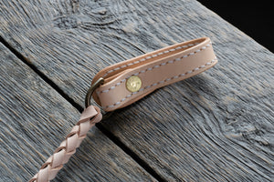 Veg tan leather wallet cord in natural back