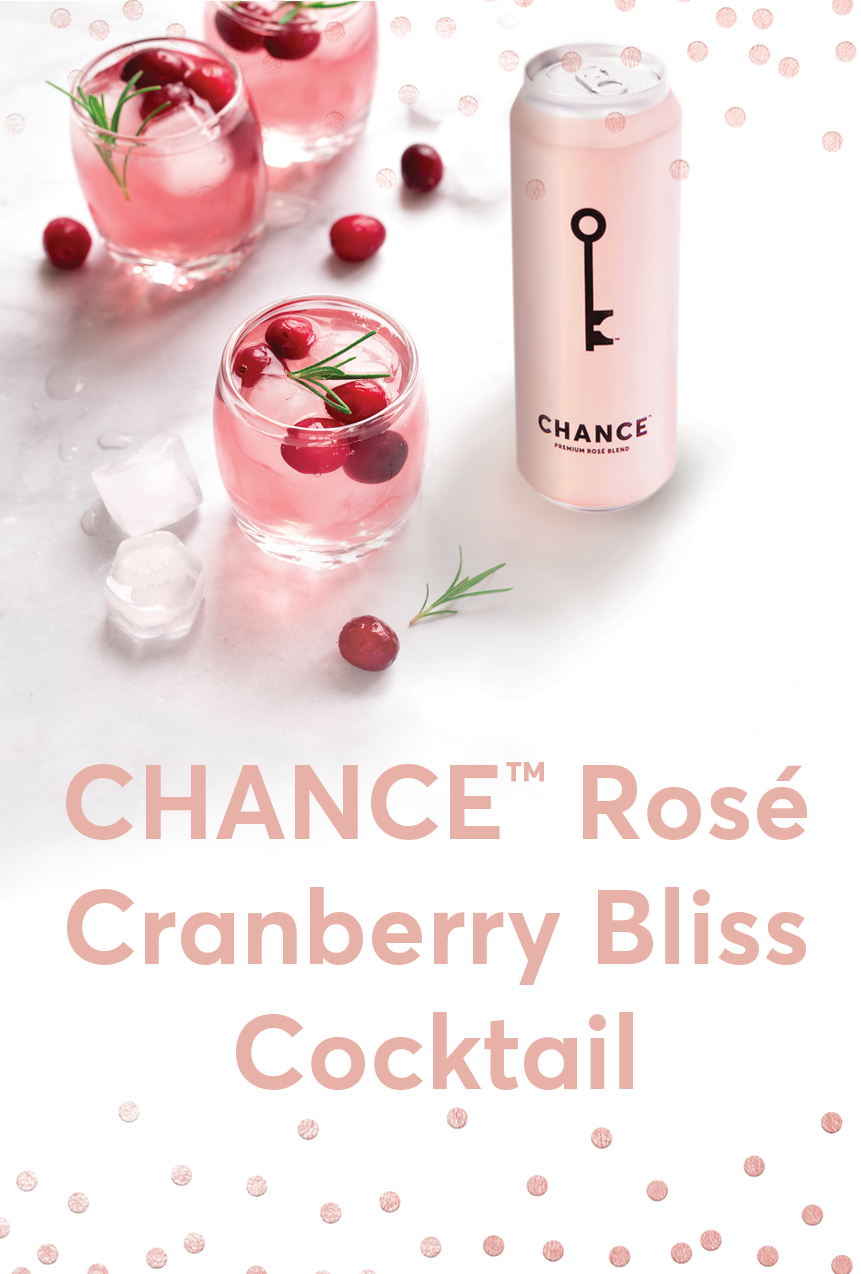 CHANCE™ Rosé Cranberry Bliss Cocktail Recipe Mobile Header