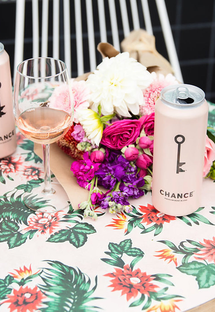 CHANCE canned rosé wine
