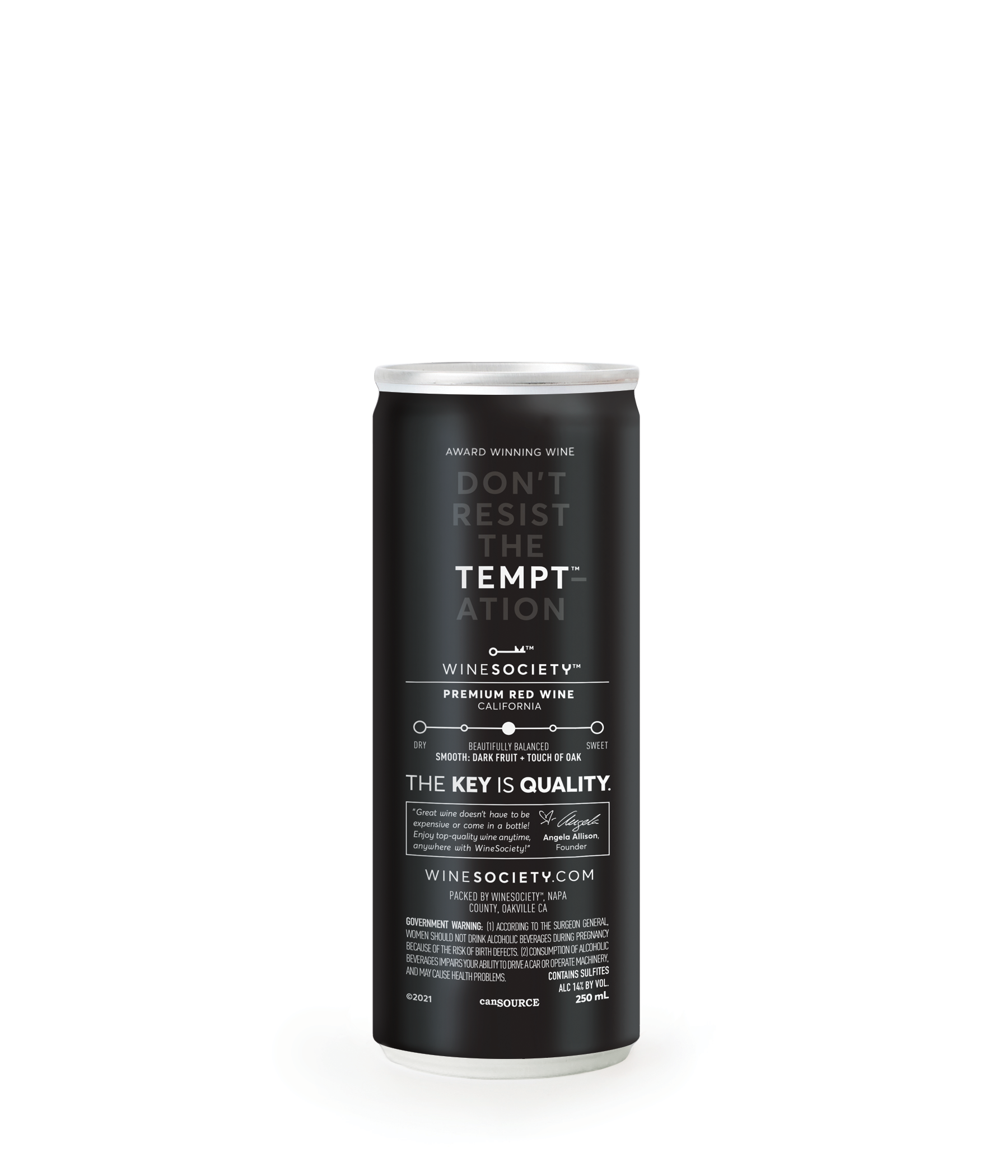 WineSociety TEMPT Can Back