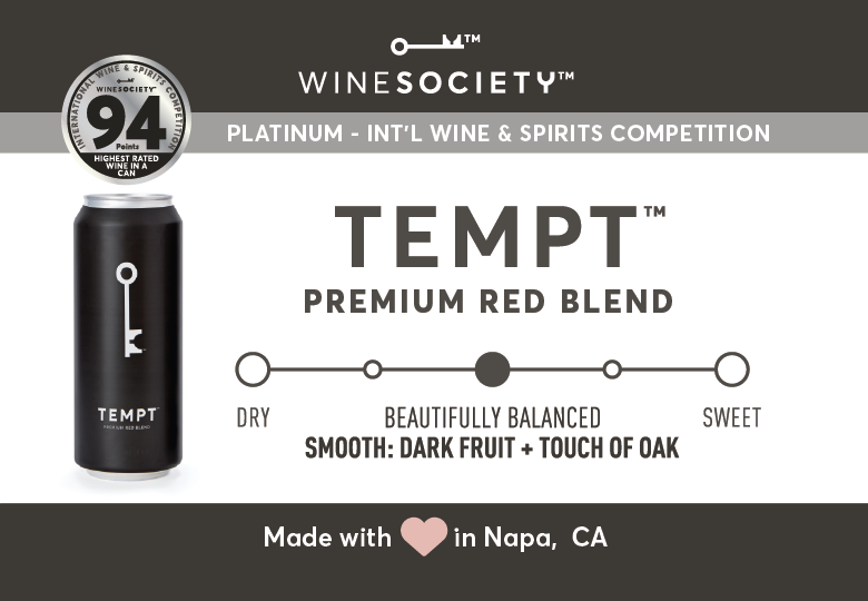 WineSociety TEMPT 2.6 x 1.8 Shelf Label - Flavor Scale