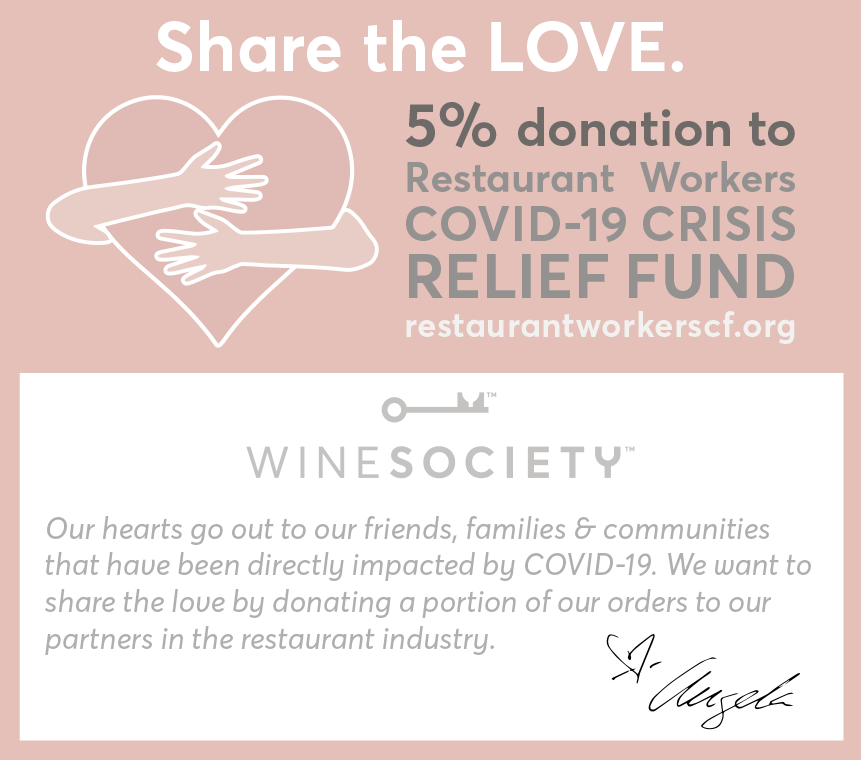 5% of WineSociety orders go to RSCF for COVID-19 Relief Fund
