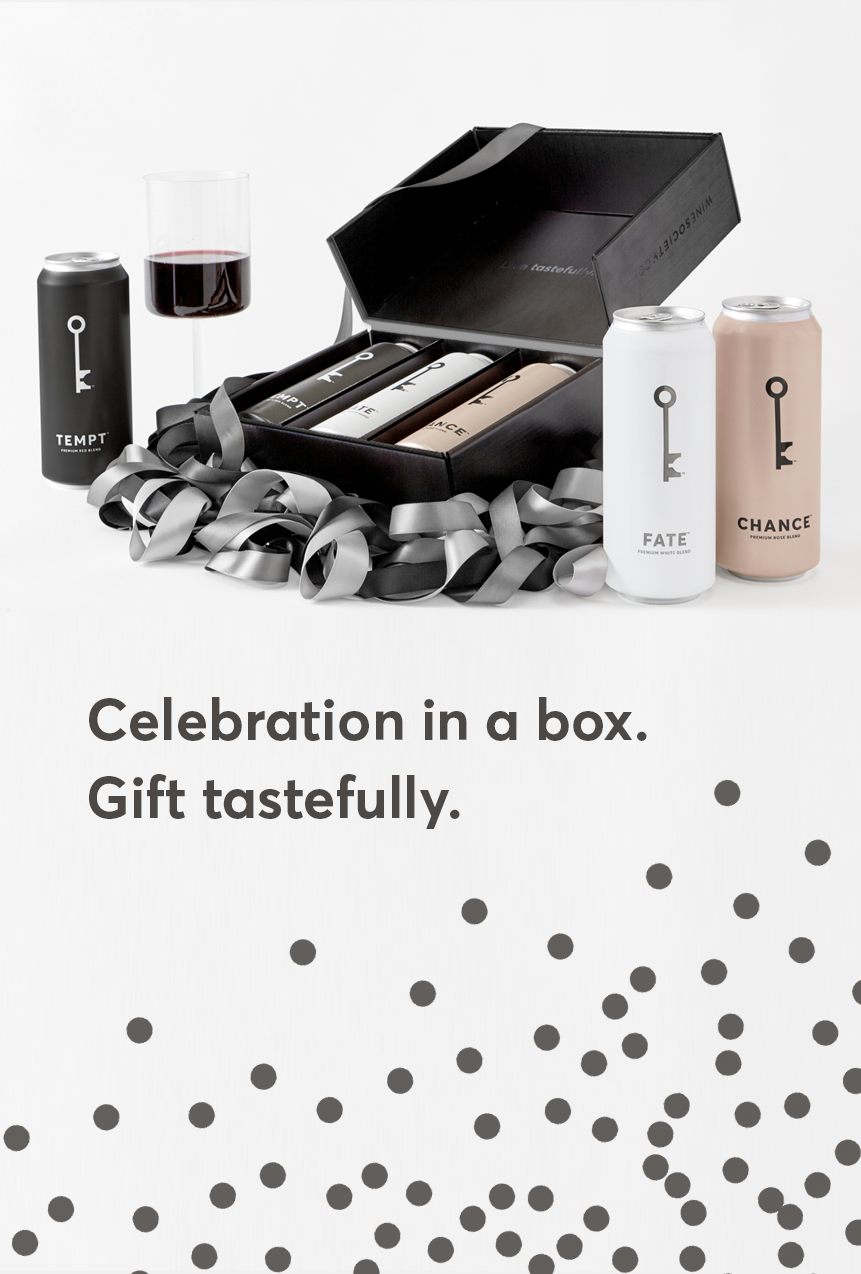Celebration in a box. Gift tastefully.