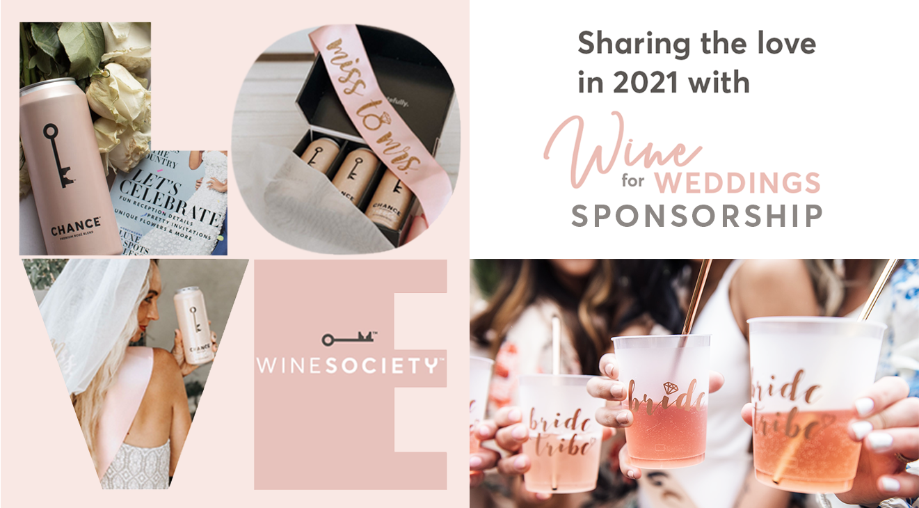 WineSociety Wine for Weddings LOVE graphic