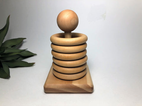 Montessori Wooden Stacker Toy