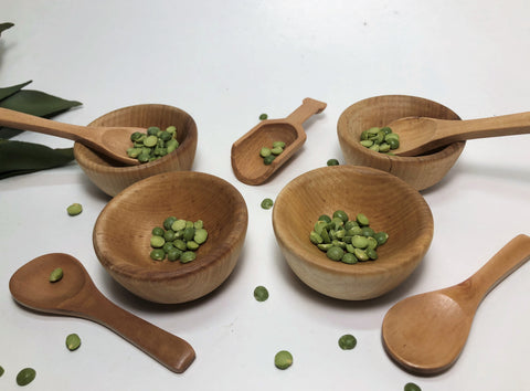 Montessori Wooden Bowl Soup Set