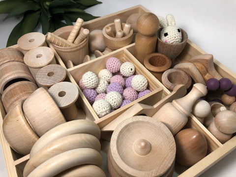 Loose Parts Toy Set Pastel