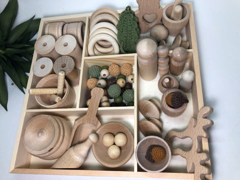 Loose Parts Toy Set Woodland