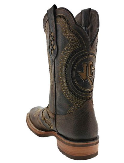 980c1f29086 ... Mens Dark Brown Alabe Inlay Design Western Wear Leather Cowboy Boots  Rodeo - TC1