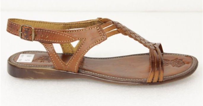 ef5803013d4d ... Women s Brown T-Strap Leather Huaraches Mexican Buckle Sandals Hand  Woven ...