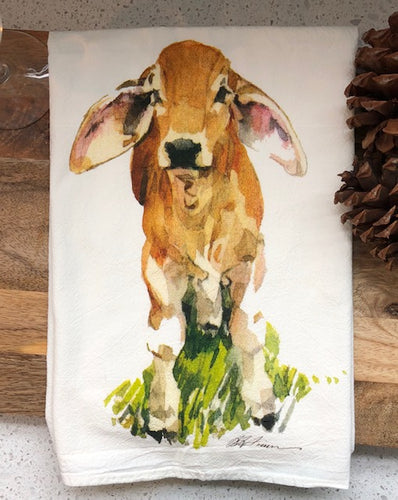 Baby Brahman Flour Sack Kitchen Towel