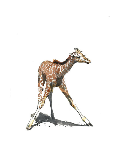 Baby Giraffe Nursery Watercolor Print