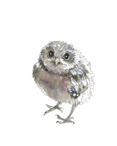 Baby Owl Nursery Watercolor Print