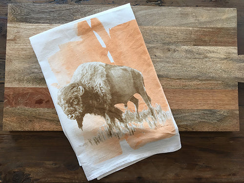 Bison Color Flour Sack Kitchen Towel