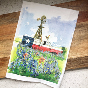 Texas Truck Flour Sack Kitchen Towel